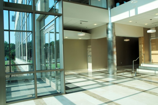 8740 Research Drive Interior Glass Lobby