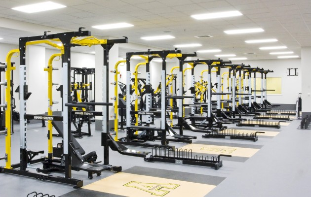 Appalachian State University Kid Brewer Stadium Field House Weight Room