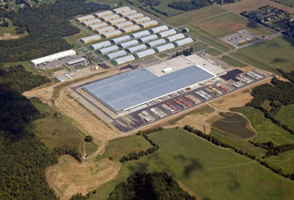 Ashley Furniture Distribution Center Expansion Aerial Shot