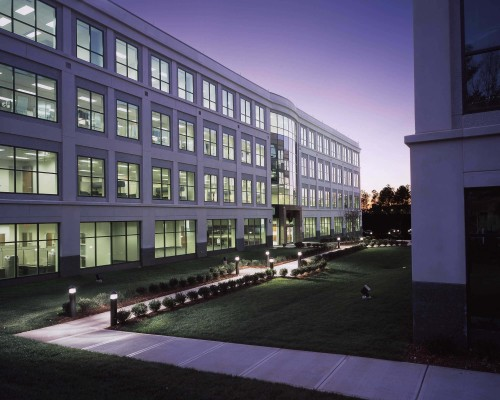 Brier Creek Corporate Center Exterior Shot at Dusk