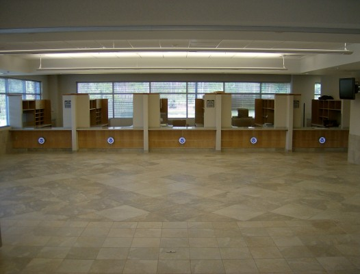 U.S. Citizen and Immigration Services Building Information Counters Interior