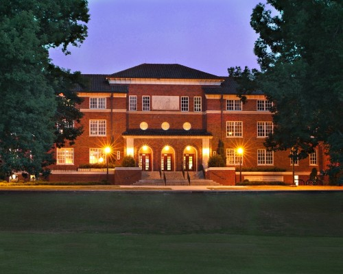 Clemson University Fike Recreation Wellness Center Exterior at Dusk