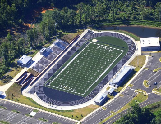 Gaston High School Stadium Aerial View