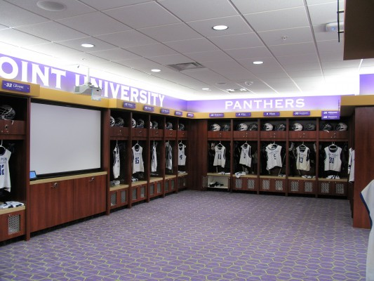 High Point University Athletic Center Locker Room