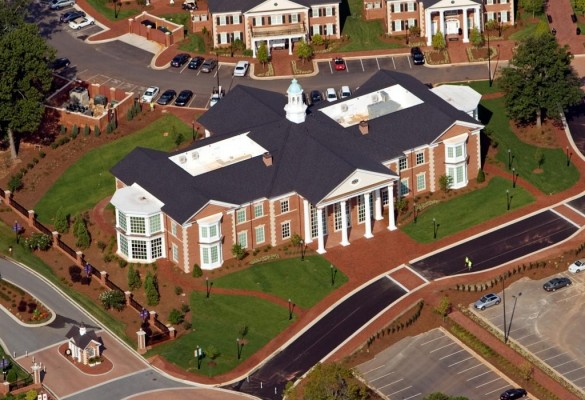 High Point University School of Education Aerial Front