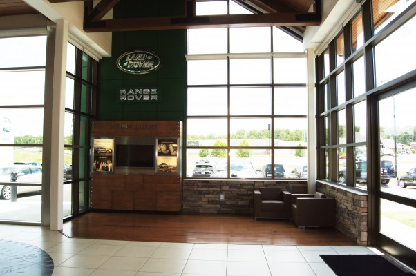 Jaguar Land Rover Showroom Interior