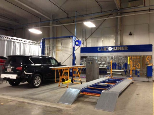 New River Auto Mall Vehicle Remanufacturing Center Garage Interior
