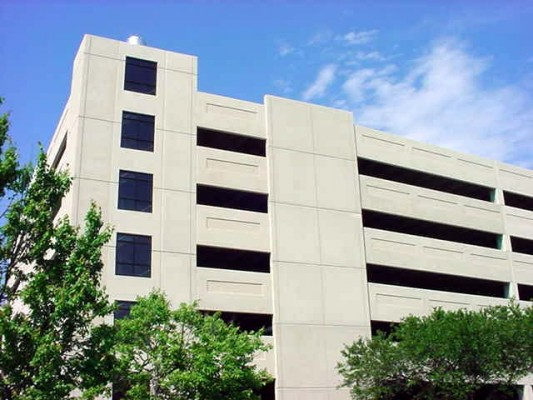 St. Jospeph's/Candler Hospital Employee Parking Deck Exterior Shot