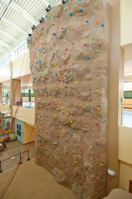 UNC Amberly Fitness Center Climbing Wall