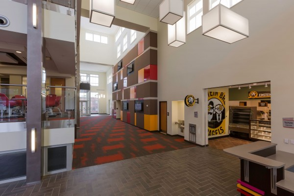 Winston-Salem State University Hill Hall Student Success Center Lobby