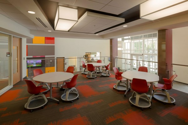Winston-Salem State University Hill Hall Student Success Center Lounge